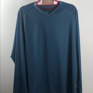 Rhone blue long sleeve tee V Neck size XL